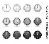 vector set of clocks showing... | Shutterstock .eps vector #50715991