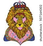 zodiac signs  leo. | Shutterstock .eps vector #507164302