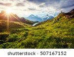 Panorama Of Mt. Schreckhorn An...