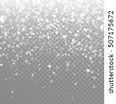 snow falling background. vector ... | Shutterstock .eps vector #507175672