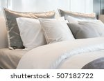gray color scheme pillows... | Shutterstock . vector #507182722
