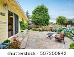 well designed patio area with... | Shutterstock . vector #507200842