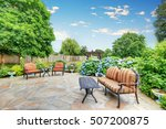 well designed patio area with... | Shutterstock . vector #507200875