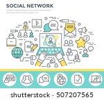 social network concept... | Shutterstock .eps vector #507207565