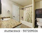 typical american bathroom... | Shutterstock . vector #507209026
