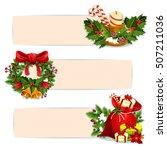 christmas banner set of santas... | Shutterstock .eps vector #507211036
