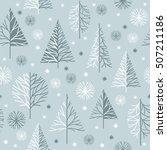 seamless christmas pattern ... | Shutterstock .eps vector #507211186