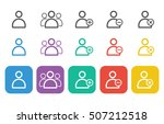 user icon set for web and mobile   Shutterstock .eps vector #507212518