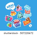 set of christmas stickers.... | Shutterstock .eps vector #507220672