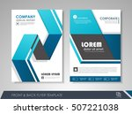 front and back page annual... | Shutterstock .eps vector #507221038