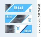 flat style website banner ... | Shutterstock .eps vector #507224602
