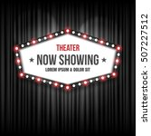 theater cinema sign. vector... | Shutterstock .eps vector #507227512