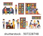 library and bookstore with... | Shutterstock .eps vector #507228748