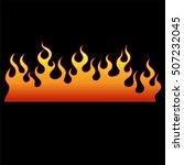 flame vector tattoo  fire... | Shutterstock .eps vector #507232045