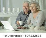 senior couple  with laptop | Shutterstock . vector #507232636