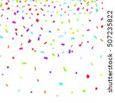 colorful explosion of confetti. ... | Shutterstock .eps vector #507235822