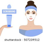 girl scrubbing and care her... | Shutterstock .eps vector #507239512