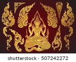 set of thai art element ... | Shutterstock .eps vector #507242272