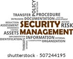 a word cloud of security... | Shutterstock .eps vector #507244195