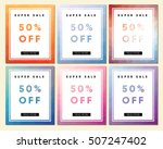 collection of six sale flyers ... | Shutterstock .eps vector #507247402