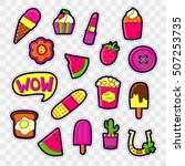 set of fashion patch badges... | Shutterstock .eps vector #507253735
