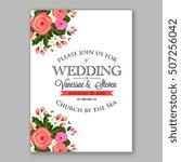 wedding invitation printable... | Shutterstock .eps vector #507256042