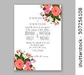 wedding invitation printable... | Shutterstock .eps vector #507256108