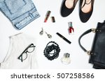collection of women's clothing...   Shutterstock . vector #507258586