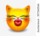 Cute Kissing Cat Emoticon ...
