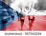 marathon runner motion blur... | Shutterstock . vector #507263236