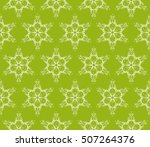 seamless floral geometric... | Shutterstock .eps vector #507264376