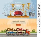 car assembly line banner  car... | Shutterstock .eps vector #507265366