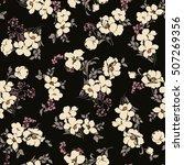 Stock vector flower pattern illustration 507269356