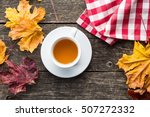 Cup Of Tea With Autumn Leaves....