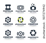 set of photography logo design... | Shutterstock .eps vector #507274942