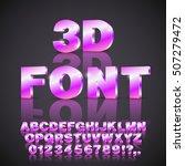 violet pink colored 3d... | Shutterstock .eps vector #507279472