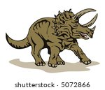 triceratops | Shutterstock . vector #5072866