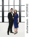 glamorous couple in formal... | Shutterstock . vector #507290932