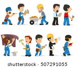 workers of different... | Shutterstock .eps vector #507291055