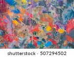 abstract oil painting... | Shutterstock . vector #507294502