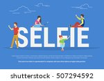 selfie concept illustration of... | Shutterstock . vector #507294592