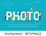 photo concept illustration of... | Shutterstock . vector #507294622