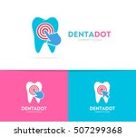 vector tooth and click logo... | Shutterstock .eps vector #507299368