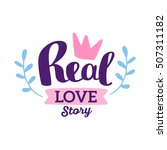 real love story   pink and blue ... | Shutterstock .eps vector #507311182