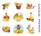Farm Products And Animals Set...