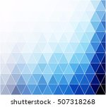 blue grid mosaic background ... | Shutterstock .eps vector #507318268