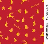 red seamless christmas... | Shutterstock .eps vector #507319276