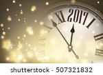 2017 year banner with clock and ... | Shutterstock .eps vector #507321832