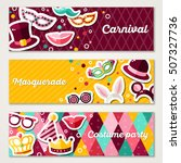 set of horizontal banners with... | Shutterstock .eps vector #507327736