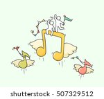 sketch of working little people ...   Shutterstock .eps vector #507329512
